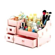 wooden makeup organizer with drawers wood storage box large regarding cosmetics renovation