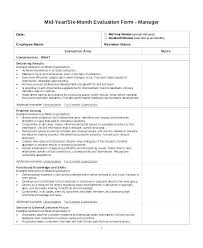 Free Evaluation Templates 6 Month Job Performance Review Template Employee Free Evaluation