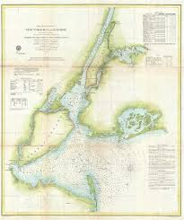 Chart Of New York Harbor Preliminary Chart Of New York Bay And Harbor Geographicus