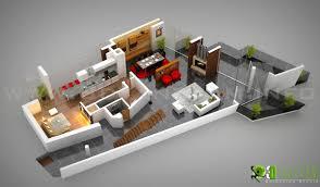 office floor design. 3D Floor Plan Residential Ground Floor, Denmark Office Design H