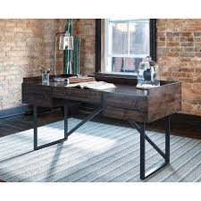industrial home office furniture. modern rustic/industrial home office desk with steel base industrial furniture