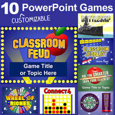 Jeopardy Powerpoint Template Unique PowerPoint Games Pack 48 Customizable Templates By Best Teacher