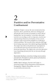 punitive and or preventative confinement springer inside