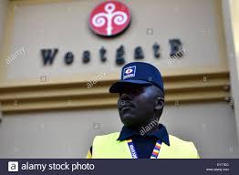 Nairobi Kenya 18th July 2015 A Security Guard Stands