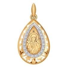<b>Золотая иконка</b> «<b>Святая блаженная</b> Матрона Московская» 104108