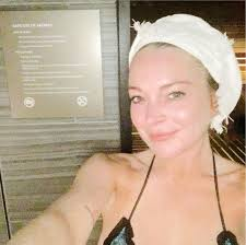 p the star hits the sauna for a steamy literally a