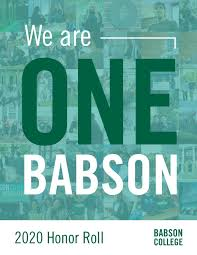 2020 Donor Honor Roll by Babson College - issuu