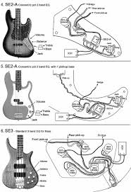 pickup wiring diagram about artec se3 2 pickups bass