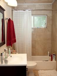Bathroom, Marvelous Hgtv Small Bathrooms Simple Bathroom Designs Towel  Curtain Toiletries Table Toilets Toiletries Glass ...