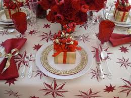 red christmas table decorations. Amazing Gold And White Christmas Table Decorations With Photos Of The Red
