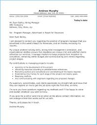 Sample Manager Cover Letter Remarkable Program Manager Cover Letter To Make Cover Letter