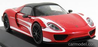 porsche 918 spyder white and red. minichamps 410062135 scale 143 porsche 918 spyder n 0 weissack package w le porsche spyder white and red a