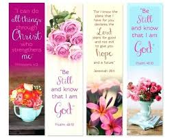Religious Bookmark Templates Book Marks Printable Bible Verse