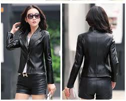 genuine leather jacket women spring fall korean black leather jacket women motorcycle fashion slim leather coat