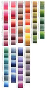 Cosmo Floss Color Chart Cosmos Thread Embroidery Thread Hand Embroidery