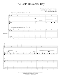 Download and print in pdf or midi free sheet music for little drummer boy by pentatonix arranged by abchords321 for piano, drum group, tenor, alto & more instruments (mixed ensemble) The Little Drummer Boy Piano Duet Print Sheet Music Now