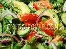 Салат из авокадо с огурцами и салатом