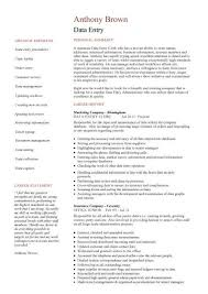 Data Entry Resume Templates Clerk Cv Jobs From Home Keyboard