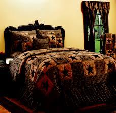 vintage star black quilt bedroom decor primitive home decors tsc bedding devonshire black quilt log