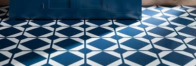 coloured vinyl flooring in blue