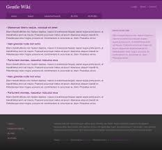 Wikipedia Layout Template Free Css Template Gentle Wiki Solucija