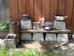 Cinder Block Outdoor Kitchen Outdoor Kitchen Improv A Mama