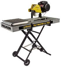 wet saw rental. if you plan on doing multiple tile projects in the near future, consider purchasing your own saw; can usually find a used wet saw rental
