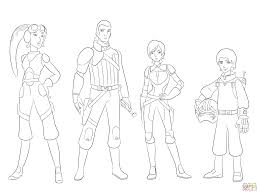 Small Picture Star Wars Rebels Characters coloring page Free Printable