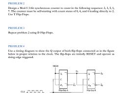 Solved Problem 2 Design A Mod 5 3 Bit Synchronous Counter