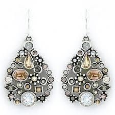 st petersburg chandelier earrings champagne