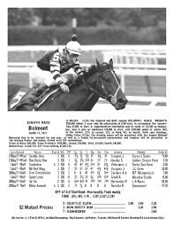 Seattle Slew Belmont 1977 Chart Photo