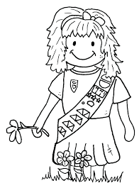 Brownie Girl Scout Coloring Pages Girl Scout Coloring Sheets Girl