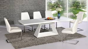 white high gloss glass dining table and 8 chairs extending innovative white gloss dining table and