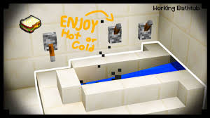 how to build a working bathtub in minecraft ideas