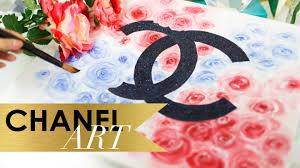 on wall art diy youtube with diy chanel floral art wall art ann le youtube