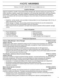 Logistics Management Resume Logistics Manager