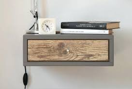 floating bedside table floating bedside table floating nightstand with drawer in old wood design console mid floating bedside table