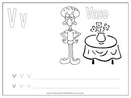 kindergarten worksheets abc V spongebob alphabet worksheets uppercase and lowercase on e sound worksheet