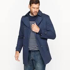 short cotton twill trench coat castaluna for men image 0