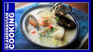 Norwegian Fish Soup Recipe - YouTube