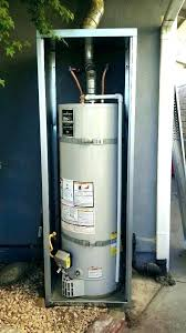 s outdoor water heater enclosure outside gas