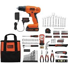 black and decker tools. black+decker 20-volt lithium ion cordless drill-driver with 128-piece black and decker tools o