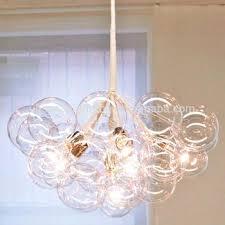 new bubble chandelier intended for modern replica lighting glass pendant idea pelle jean the original bubble chandelier