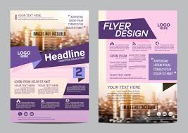 Purple Annual Report Cover Page Layout Design Template