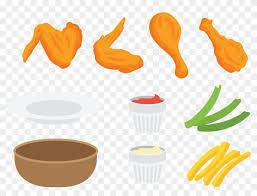 chicken wing clipart. Wonderful Wing Buffalo Wing Fried Chicken Junk Food Clip Art  Wings Png To Clipart G