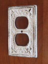 decorative electrical outlet covers. Brilliant Covers White Decorative Electrical Outlet Plate Plugin Cover Fleur De Lis  Bright Cast Iron Shabby ChicNursery Decor 899 Via Etsy With Covers