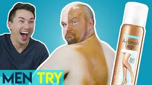 men try fake tan self ting makeup spray