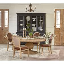 french inspired dining table. magnolia home by joanna gaines french inspired round table and chair set - item number: dining