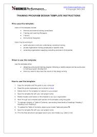 Designing A Training Program Example Training Program Design Guide Sample Bc 903 Studocu