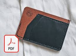 minimalist leather card wallet template